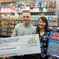 $5 Million Instant Lottery Winner